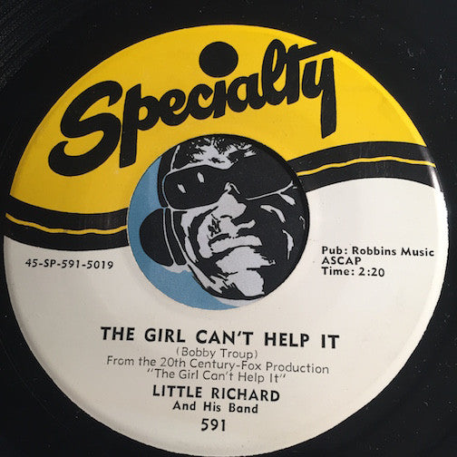 Little Richard - The Girl Can't Help It b/w All Around The World - Specialty #591 - R&B / R&B Rocker