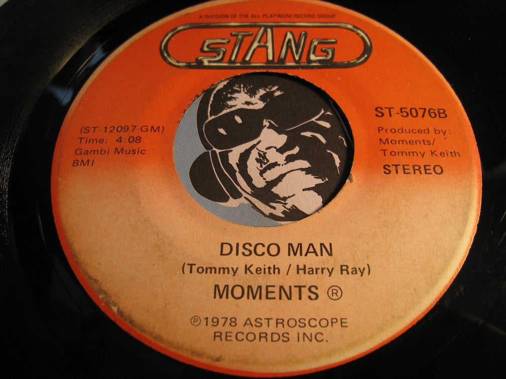 Moments - Rain In My Backyard b/w Disco Man - Stang #5076 - Modern Soul