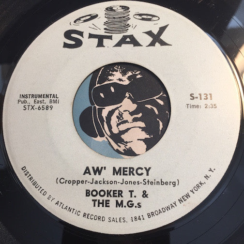 Booker T & M.G.'s - Aw Mercy b/w Jelly Bread - Stax #131 - R&B Mod