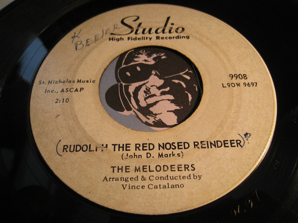 Melodeers - Rudolph The Red Nosed Reindeer b/w Wishing Is For Fools - Studio #9908 - Doowop