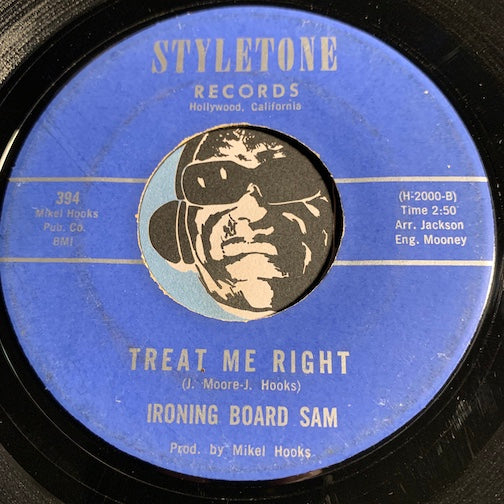 Ironing Board Sam - Original Funky Bell Bottoms b/w Treat Me Right - Styletone #394 - Blues / Funk