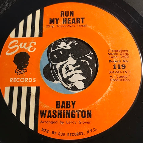 Baby Washington - Run My Heart b/w Your Fool - Sue #119 - Northern Soul
