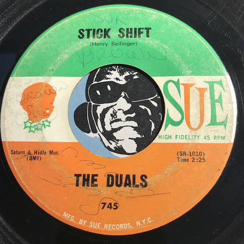 Duals - Stick Shift b/w Cruising - Sue #745 - Surf
