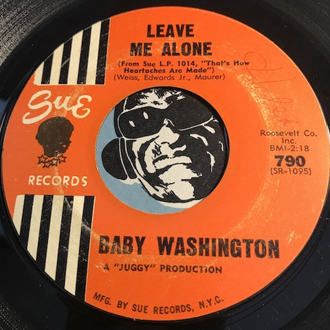 Baby Washington - Leave Me Alone b/w You And The Night And The Music - Sue #790 - Northern Soul
