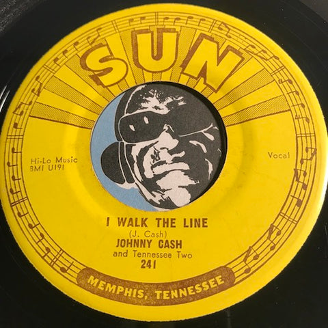 Johnny Cash - I Walk The Line b/w Get Rhythm - Sun #241 - Country