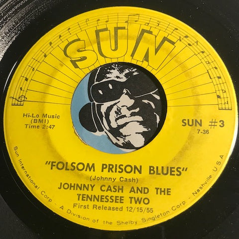 Johnny Cash - Folsom Prison Blues b/w So Doggone Lonesome - Sun #3 - Country