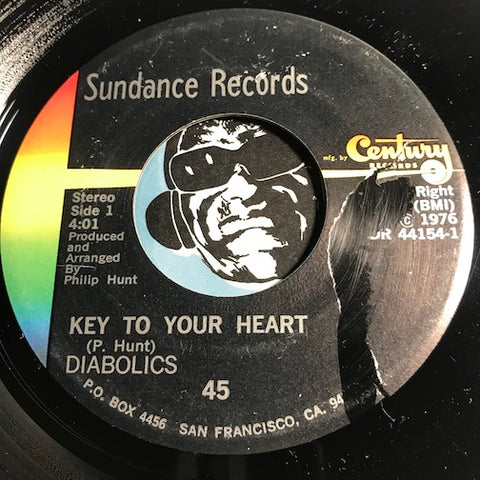 Diabolics - Key To Your Heart b/w Get It Together - Sundance #44154 - Sweet Soul - Funk