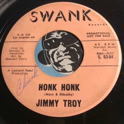 Jimmy Troy - Honk Honk b/w With So Much Love - Swank #63 - Teen - Rock n Roll