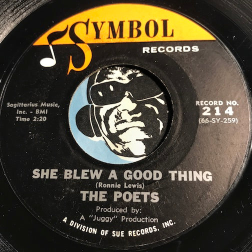 Poets - She Blew A Good Thing b/w Out To Lunch - Symbol #214 - Northern Soul