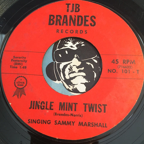 Singing Sammy Marshall - Jingle Mint Twist b/w Come Back To Me - TJB Brandes #101 - Rock n Roll - Christmas / Holiday