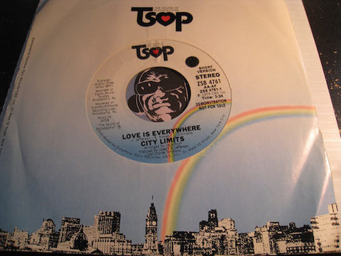 City Limits - Love Is Everywhere (long version 4:15) b/w same (short version 3:24) - TSOP #4761 - Funk Disco
