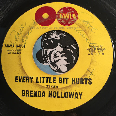 Brenda Holloway - Every Little Bit Hurts b/w Land Of A Thousand Boys - Tamla #54094 - Motown - Northern Soul