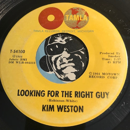 Kim Weston - Looking For The Right Guy b/w Feel Alright Tonight - Tamla #54100 - Northern Soul - Motown