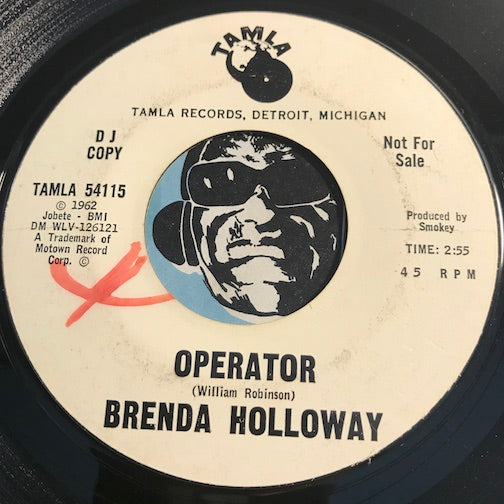 Brenda Holloway - Operator b/w I'll Be Available - Tamla #54115 - Northern Soul - Motown