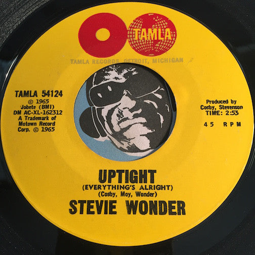 Stevie Wonder - Uptight (Everything's Alright) b/w Purple Raindrops - Tamla #54124 - Soul - Motown