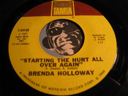 Brenda Holloway - Just Look What You've Done b/w Starting The Hurt All Over Again - Tamla #54148 - Northern Soul