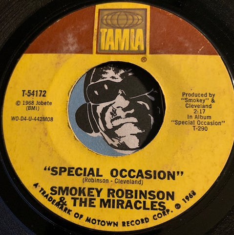 Smokey Robinson & Miracles - Special Occasion b/w Give Her Up - Tamla #54172 - Motown - Sweet Soul
