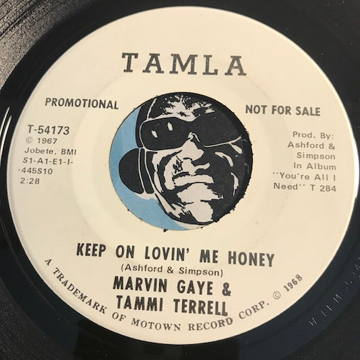 Marvin Gaye & Tammi Terrell - Keep On Lovin Me Honey b/w same - Tamla #54173 - Motown - Northern Soul