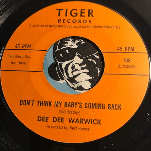 Dee Dee Warwick - Don't Think My Baby's Coming Back b/w Standing By - Tiger #103 - Northern Soul