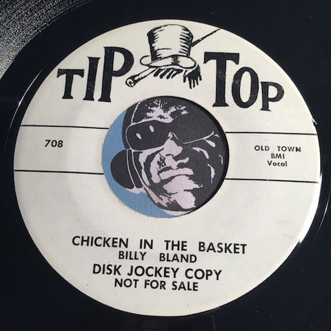 Billy Bland - Chicken In The Basket b/w Chicken Hop - Tip Top #708 - R&B Rocker - Rockabilly