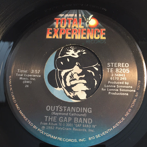 Gap Band - Outstanding b/w The Boys Are Back In Town - Total Experience #8250 - Funk