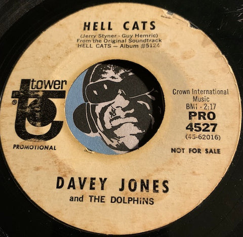 Davey Jones & Dolphins - Hell Cats b/w The Only Way To Fly - Tower #4527 - Rock n Roll - Garage Rock