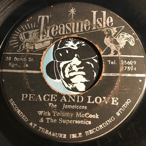 Jamaicans / Tommy McCook & Supersonics - Peace And Love b/w Woman Go Home - Treasure Isle #175 - Reggae