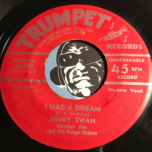 Jimmy Swan - Cowboy Jim & His Range Riders - Juke Joint Mama b/w I Had A Dream - Trumpet #176 - Country - Rockabilly