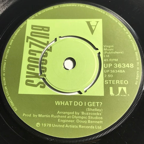 Buzzcocks - What Do I Get b/w Oh Shit - UA #36348 - Punk