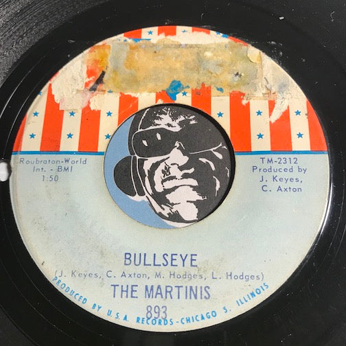 Martinis - Bullseye b/w Holiday Cheer - USA #893 - Northern Soul - Funk