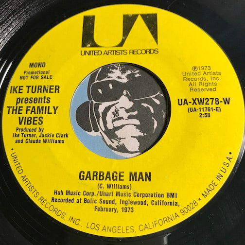Family Vibes - Garbage Man b/w same - United Artists #278 - Funk