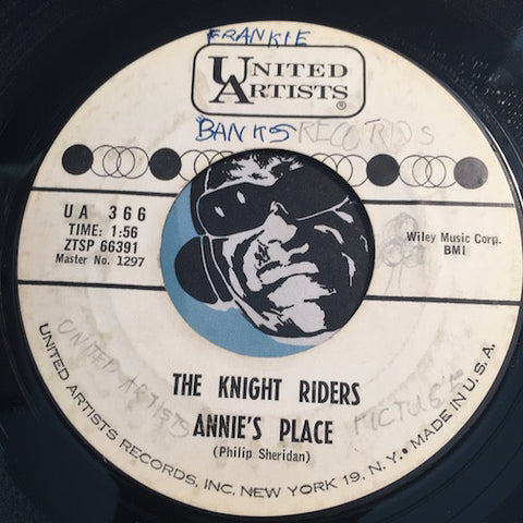 Knight Riders - Annie's Place b/w Unchained Melody - United Artists #366 - Rock n Roll