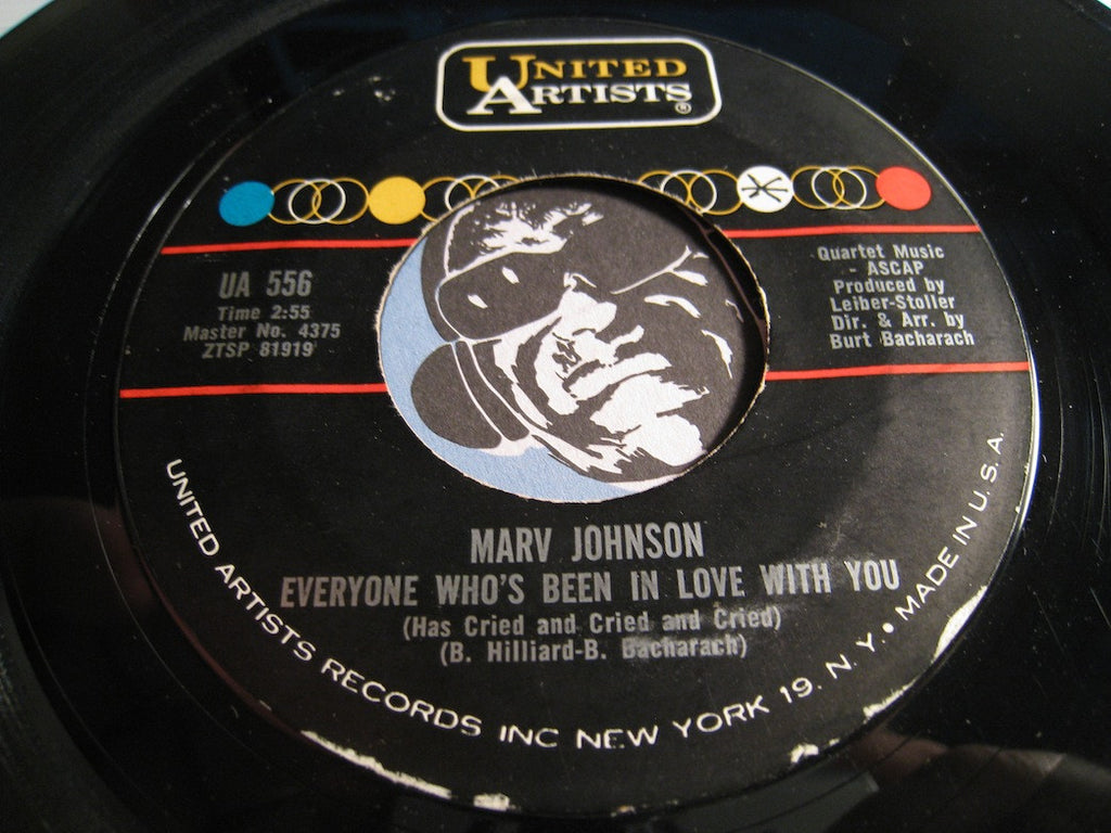 Marv Johnson - Keep Tellin Yourself b/w Everyone Who's Been In Love With You - United Artists #556 - Northern Soul