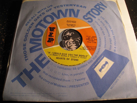 Hearts Of Stone - If I Could Give You The World b/w You Gotta Sacrifice (We Gotta Sacrifice) - VIP #25064 - Motown - Funk - Modern Soul