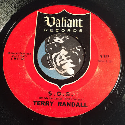 Terry Randall - S.O.S. b/w Tell Her - Valiant #756 - Garage Rock