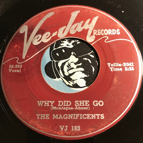 Magnificents - Why Did She Go b/w Up On The Mountain - Vee Jay #183 - Doowop