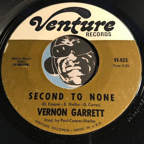 Vernon Garrett - Second To None b/w Love Has Caught Me - Venture #623 - Northern Soul