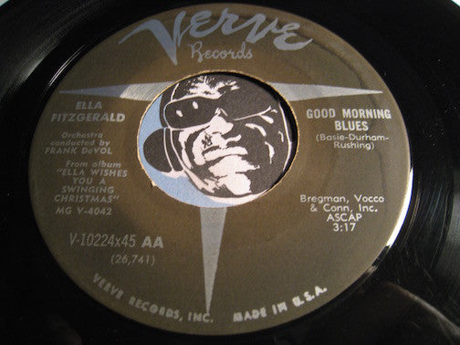 Ella Fitzgerald - Good Morning Blues b/w Jingle Bells - Verve #10224 - Jazz