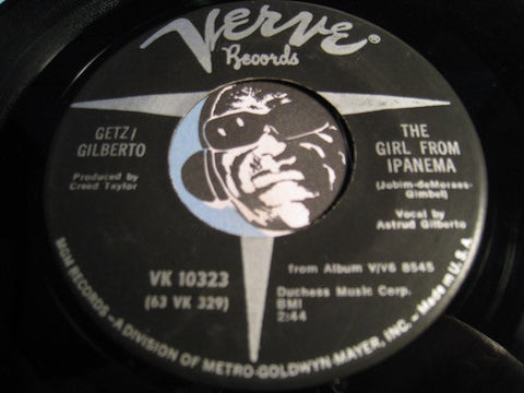 Getz / Gilberto - The Girl From Ipanema b/w Blowin In The Wind - Verve #10323 - Latin Jazz