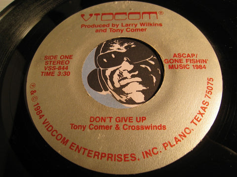 Tony Comer & Crosswinds - Don't Give Up b/w Stay With Me - Vidcom #844 - Modern Soul - Gospel Soul