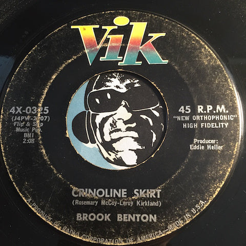 Brook Benton - Crinoline Skirt b/w Because You Love Me - Vik #0325 - R&B Rocker