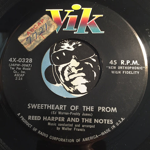 Reed Harper & The Notes - Sweetheart Of The Prom b/w I Miss You So - Vik #0328 - Teen Doowop