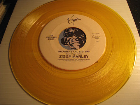 Ziggy Marley - Brothers And Sisters b/w Man A Do To Man - Virgin #17520 - Reggae