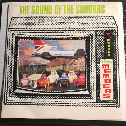 Members - The Sound Of The Suburbs b/w Handling The Big Jets - Virgin #242 - Punk - Colored Vinyl