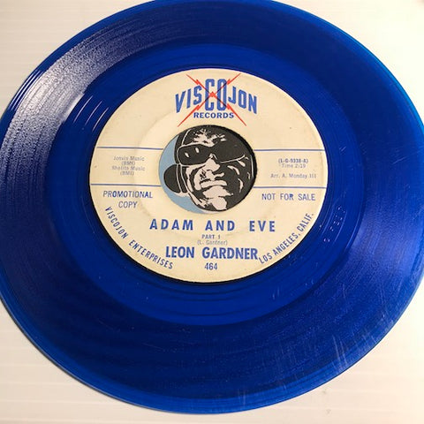 Leon Gardner - Adam And Eve pt.1 b/w pt.2 - Viscojon #464 - Funk - Colored Vinyl