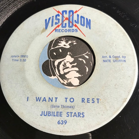 Jubilee Stars - I Want To Rest b/w 27 Psalm - Viscojon #639 - Colored vinyl - Gospel Soul