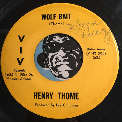 Henry Thome - Wolf Bait b/w Scotch And Soda - Viv #305 - Jazz Mod - Popcorn Soul