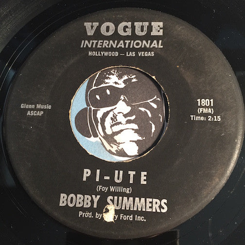 Bobby Summers - Pi-ute b/w The Big Guitar - Vogue International #1801 - Surf