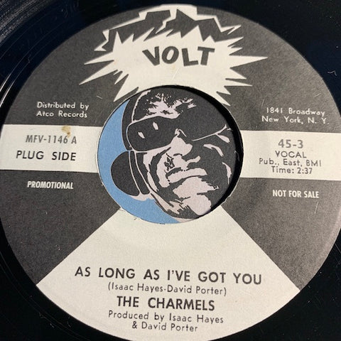 Charmels / Emotions - As Long As I've Got You (Charmels) b/w same (Emotions) - Volt #3 - Sweet Soul - Funk