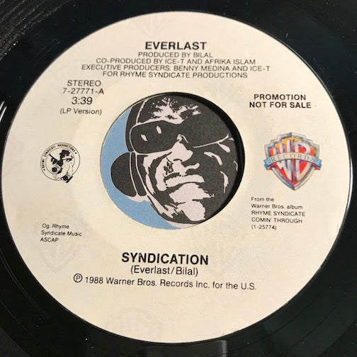 Everlast - Syndication b/w same - WB #27771 - Rap